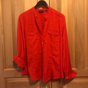 💚2 for $30💚Classic red button front shirt - NY&C
